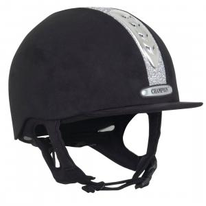 Champion Junior X-Air Dazzle Plus Riding Hat Black/Silver