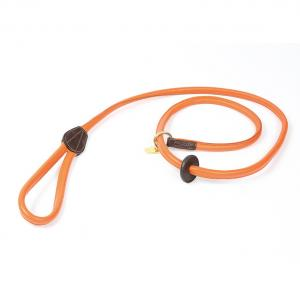 Digby & Fox Rolled Leather Slip Lead Orange