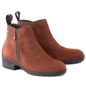 Dubarry Ladies Carlow Leather Boots Walnut