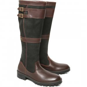 Dubarry Ladies Longford Country Boots Black/Brown