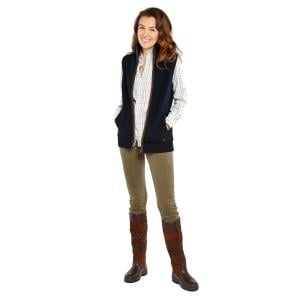 Dubarry Ladies Sheedy Wool Blend Gilet Navy