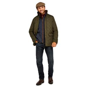 Dubarry Mens Adare Quilted Jacket Olive