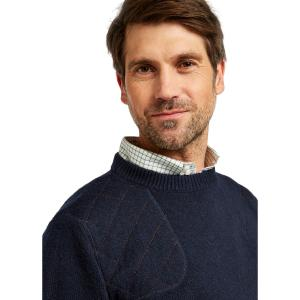Dubarry Mens Nolan Crew Neck Knitted Sweatshirt Navy