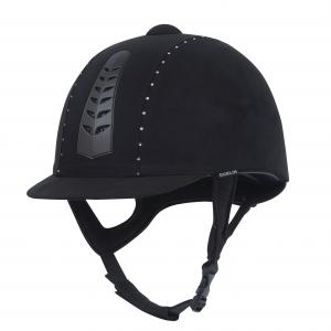 Dublin Adults Silver Pro Diamante Riding Hat Black