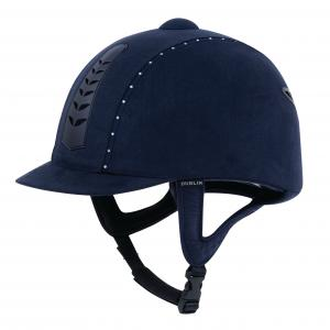 Dublin Adults Silver Pro Diamante Riding Hat Navy