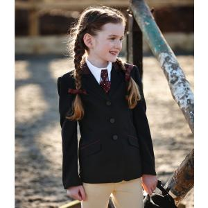 Dublin Childs Atherstone Show Jacket Black/Burgundy