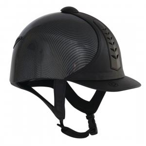 Dublin Adults Silver Pro Graphic Riding Hat Black
