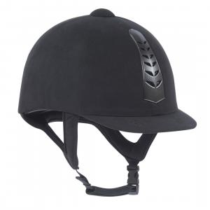 Dublin Adults Silver Pro Riding Hat Black