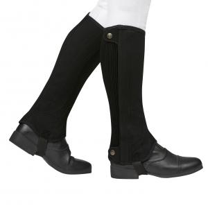 Dublin Childs Easy Care Premier Half Chaps Black