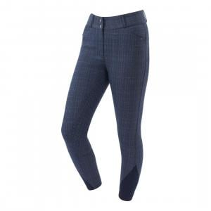 Dublin Ladies Ascent Pro Form Gel Full Seat High Rise Breeches Navy Plaid