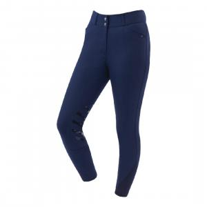 Dublin Ladies Ascent Pro Form Gel Knee Patch High Rise Breeches Navy
