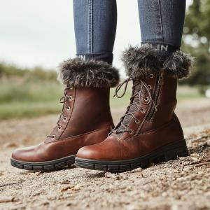 Dublin Ladies Bourne Boots Red Brown