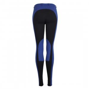 Dublin Ladies Momentum Supa-Fit Euro Seat Zip Up Jodhpurs Blue/Navy
