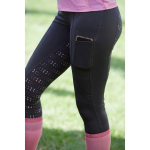 Dublin Ladies Performance Cool-It Dot Print Riding Tights Grey