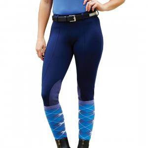 Dublin Ladies Performance Flex Knee Patch Riding Tights Navy