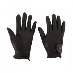 Dublin Leather Show Riding Gloves Black