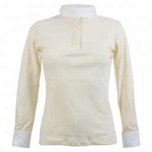 Dublin Ladies Longmoor Long Sleeve Show Shirt Cream