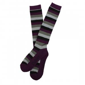 Dublin Socks Pack of 3 Black/Purple/Grey