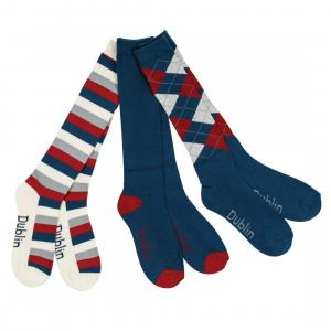 Dublin Socks Pack of 3 Navy/Red/White