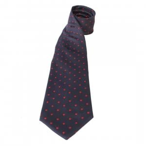 Equetech Adults Polka Dot Show Tie Navy/Red