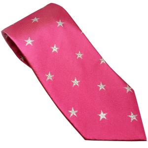 Equetech Adult Star Show Tie Fuchsia/Silver