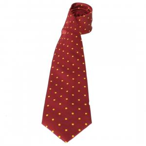 Equetech Childs Polka Dot Show Tie Burgundy/Gold