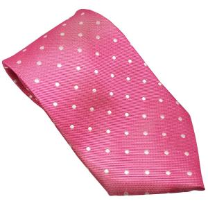 Equetech Childs Polka Dot Tie Fuchsia/White