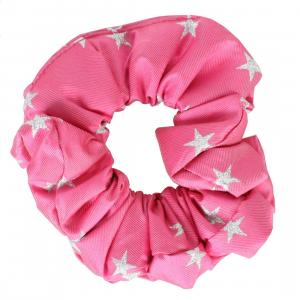 Equetech Childs Stars Show Scrunchie Fucshia/Silver