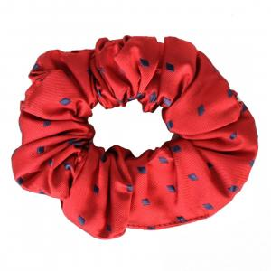 Equetech Diamond Show Scrunchie Burgundy/Navy
