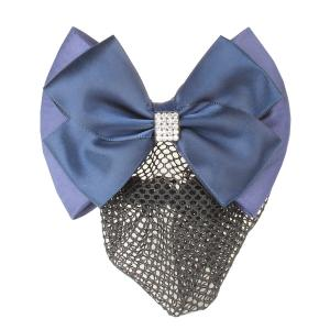 Equetech Dressage Crystal Bow and Net Navy