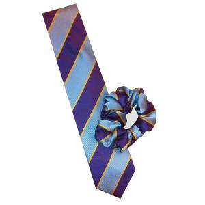 Equetech Pony Club Striped Tie Grey/Purple