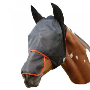 Equilibrium Field Relief® Fly Mask Max Black/Orange