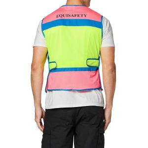 Equisafety Charlotte Dujardin Multi-Coloured Waistcoat Pink/Yellow