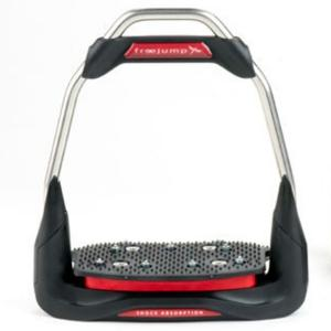 Freejump Adults AIR'S Inclined Grip Tread Straight Eye Stirrups Red