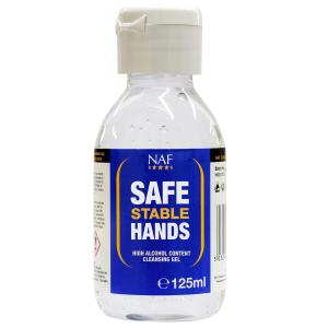 NAF Safe Stable Hands High Alcohol Content Cleansing Gel 125ml