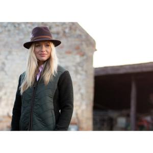 Alan Paine Ladies Highshore Quilted Gilet Dark Olive