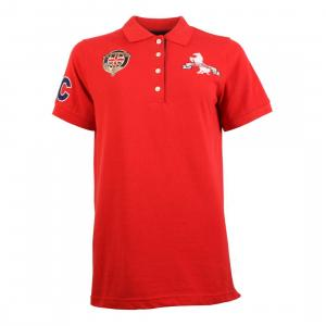 Horse Couture Rosa Small Logo Polo Shirt Red