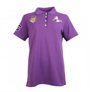 Horse Couture Venice Small Logo Polo Shirt Purple