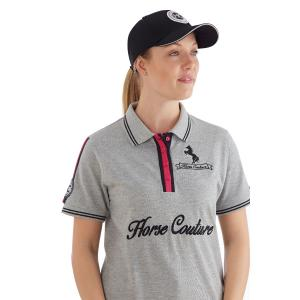 Horse Couture Ladies Barlow Polo Grey