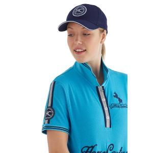 Horse Couture Ladies Fielden Polo Cyan