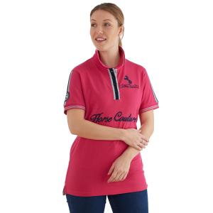 Horse Couture Ladies Heywood Polo Raspberry