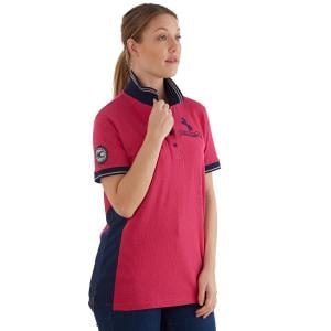 Horse Couture Ladies Prestwich Small Logo Polo Shirt Raspberry