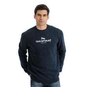 Horseware® Unisex Signature Cotton Crew Sweatshirt Navy
