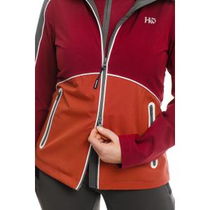 Horseware® Ladies Eliza Waterproof Softshell Jacket Charcoal/Redwood