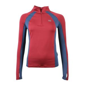 Horseware® Ladies Aveen Half Zip Long Sleeve Tech Top Summer Berry