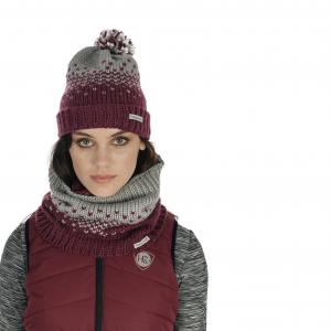 Horseware® Ladies Bobble Hat & Snood Set Garnet