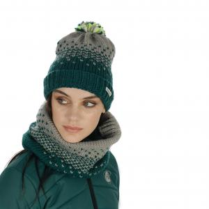 Horseware® Ladies Bobble Hat & Snood Set Storm Green