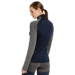 Horseware® Ladies Thea Tech Quarter Zip Fleece Castle Rock Grey/Navy