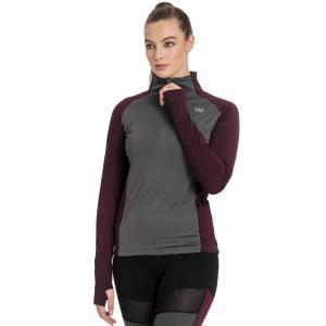 Horseware® Ladies Thea Tech Quarter Zip Fleece Fig/Castle Rock Grey
