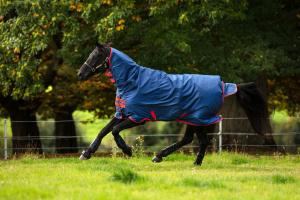 Horseware® Mio All-In-One 350g Heavy Weight Combo Neck Turnout Rug Dark Blue/Red